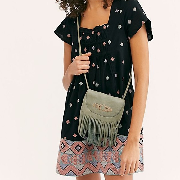 Free People Desert Winds Embroidered Dress, XS